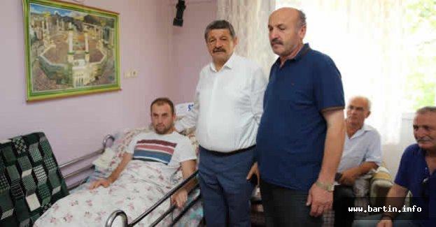 Tunceli Gazisine Geçmiş Olsun Ziyareti