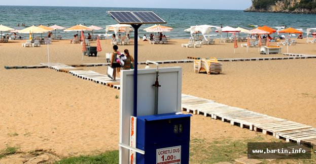 Güneş Enerjili Duşmatik; 2 dk. 1 TL