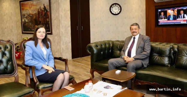 Kaymakam Polat'tan Başkan'a Ziyaret
