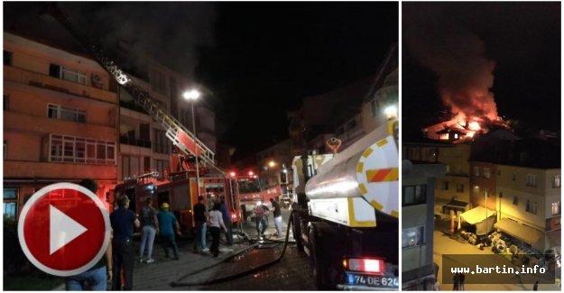 Ulus'ta Korkutan Yangın: 1 kişi tahliye edildi