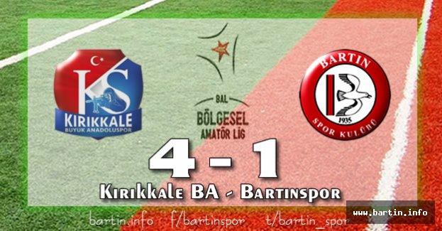 Bartınspor Kırıkkale'de Yıkıldı: 4-1