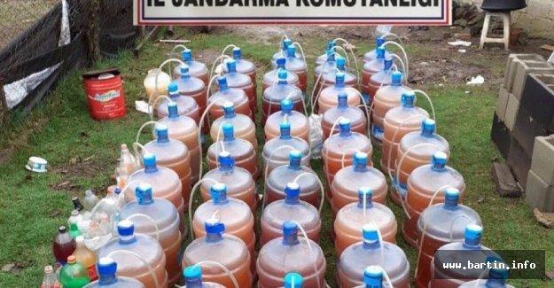 Barakada Sahte İçki Üretirken Yakalandı