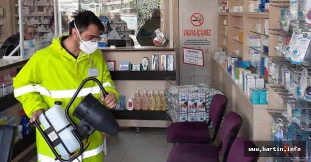 Bartın'da 39 Eczane Dezenfekte Edildi