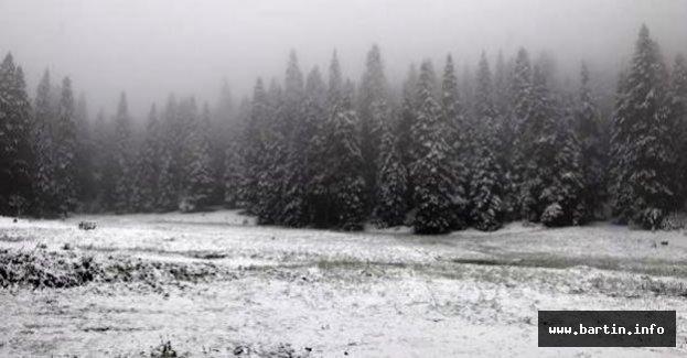 Bartın'da Mayıs Ayında Kar Sürprizi