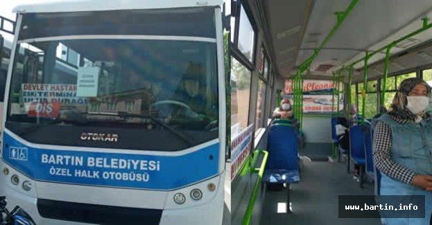Halk Otobüslerine Sosyal Mesafe Denetimi