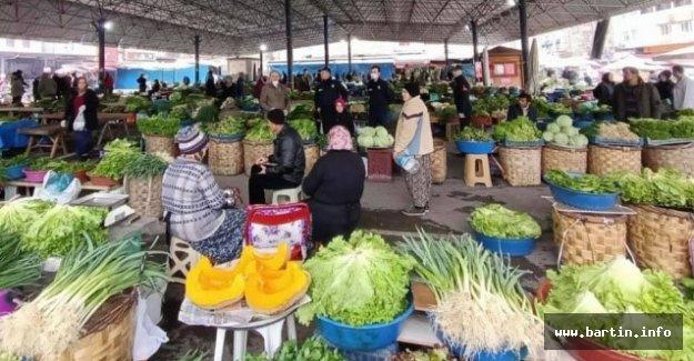 Bartın'da Pazarlara HES Kodu Olmadan Giriş Yasaklandı