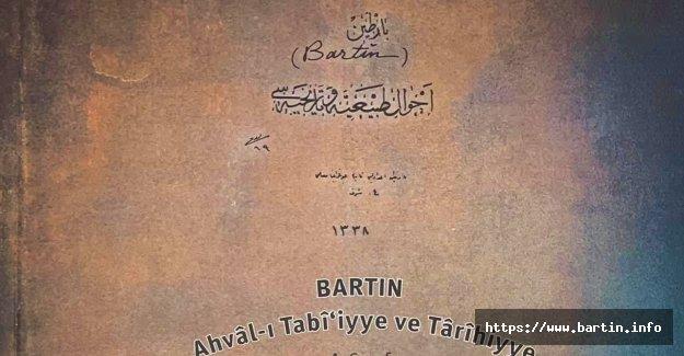 Bartın Ahval-ı Tabi'iyye ve Tarihiyye Yayınlandı