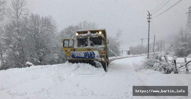 Bartın'da 75 Köy Yolu Ulaşıma Kapandı