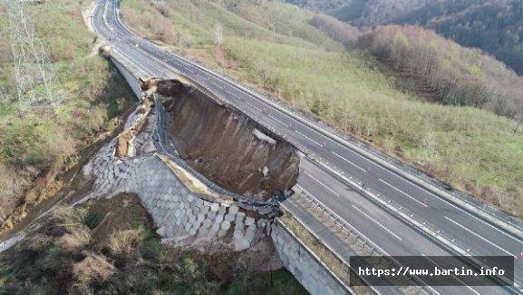 Batı Karadeniz Bağlantı Yolu Çöktü