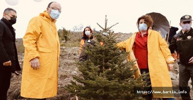 Sağlık Kahramanları Hatıra Ormanına 800 Fidan