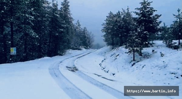 Ahmetusta'da Kar Yağışı Etkili Oldu