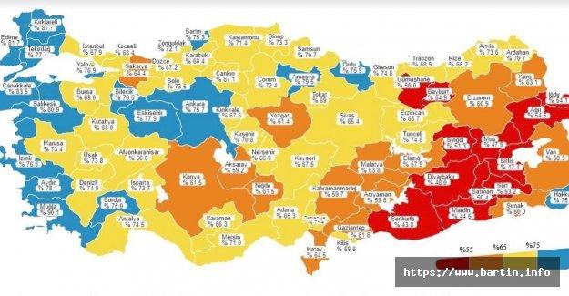 Bartın'da Aşılanma Oranı %74'ü Geçti