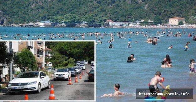 Sıcaklık 45 Derece, İnkum'a Araç Girişi Yasak