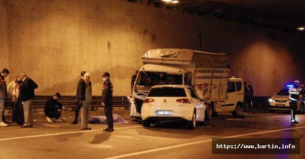 Tünelde Feci Kaza: 1 Ölü, 1 Yaralı