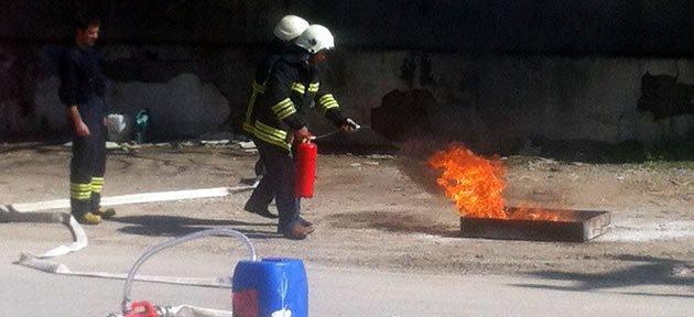 300 kişiye yangın eğitimi