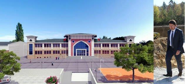 Abdipaşa Lise ve Spor Salonu kısa sürede tamamlanacak