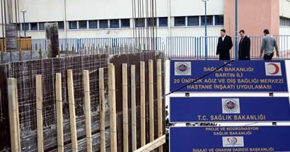 Ağız ve Diş Sağlığı Hastanesi inşaatı hızla devam ediyor