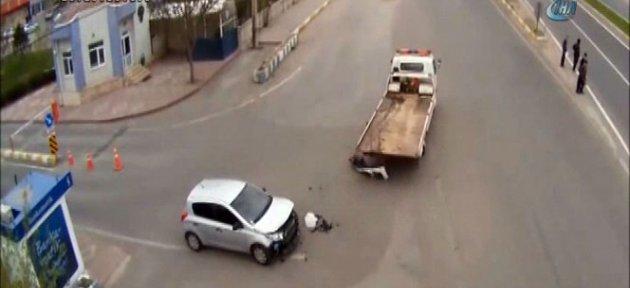 Akıl almaz kazalar kamerada!