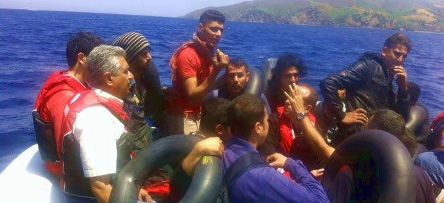 Amasra Sahil Güvenlik 50 Kaçak Göçmen Yakaladı