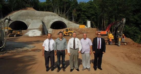 Amasra Tüneli 200 metre delindi