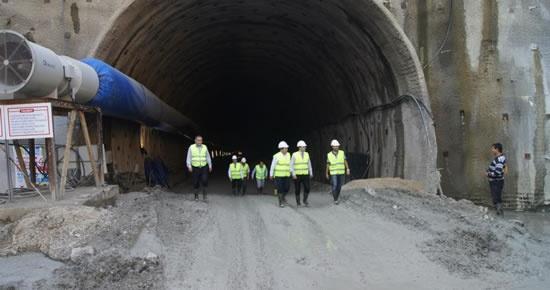 Amasra Tüneli 650 metre delindi