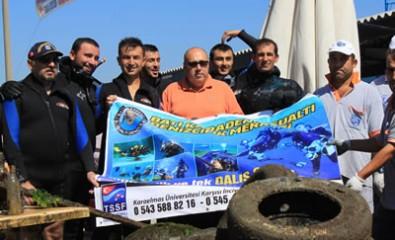 Amasra'da Deniz Dibi Temizliği