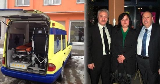 Amasralı gurbetçiden Belediye'ye ambulans