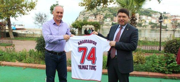 Amasraspor Kulübü Yönetimi'nden Tunç'a Teşekkür