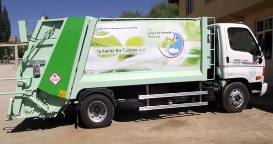 Amasra,Ulus,Kozcağız,Abdipaşa ve Hasankadı Belediyelerine çöp kamyonu