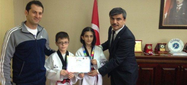 Avrupa Üçüncüsü Sporcudan Özdemir'e Ziyaret