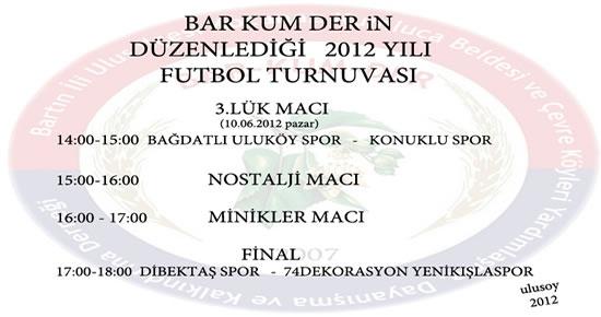 Barkumder'in futbol turnuvasında final heyecanı yarın