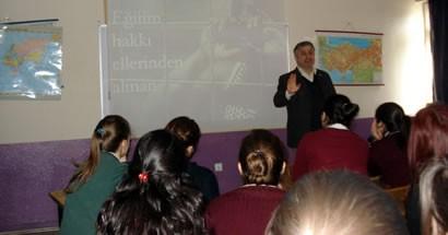 Bartın Anadolu Lisesi'nde İnsan Hakları semineri