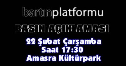 Bartın Platformu Amasra'da basın açıklaması yapacak