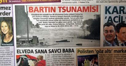 Bartın Tsunamisi Ulusal Basında