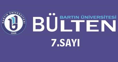 Bartın Üniversitesi Bülteni 7.Sayısı çıktı