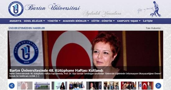 Bartın Üniversitesi internet sitesi yenilendi