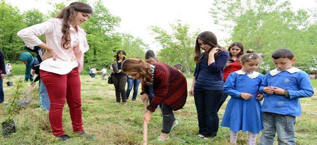Bartın Üniversitesi Soma Şehitleri İçin Fidan Dikti