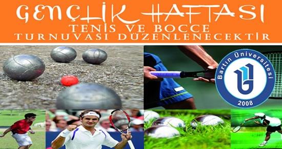 Bartın Üniversitesi'nde Tenis ve Bocce Turnuvası