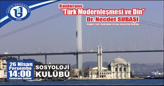 Bartın Üniversitesi'nde Türk Modernleşmesi ve Din konferansı
