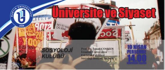 Bartın Üniversitesi'nde Üniversite ve Siyaset konferansı