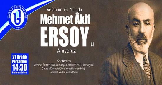 Bartın Üniversitesi'nden M.Akif Ersoy Dersliği