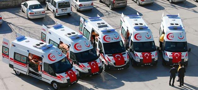 Bartın'a 5 Yeni Ambulans
