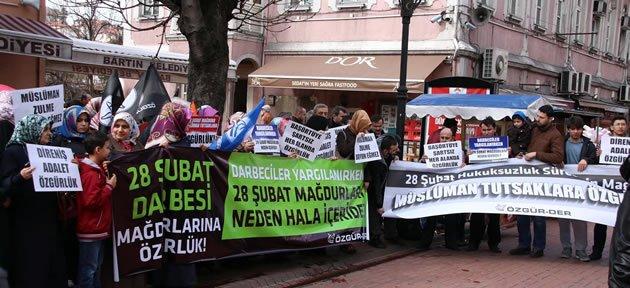 Bartın'da 28 Şubat Eylemi