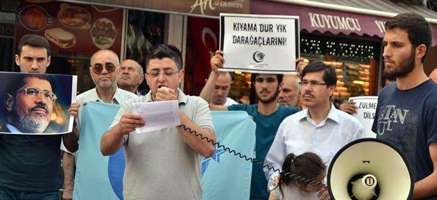 Bartın'da Mursi Protestosu