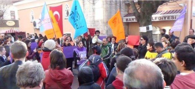 Bartın'da Özgecan Protestosu