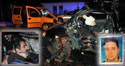 Bartın'da  trafik kazası: 1 ölü 2 yaralı