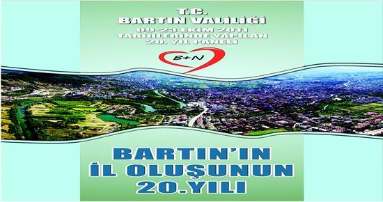 BARTIN'IN İL OLUŞUNUN 20.YILI kitabı çıktı