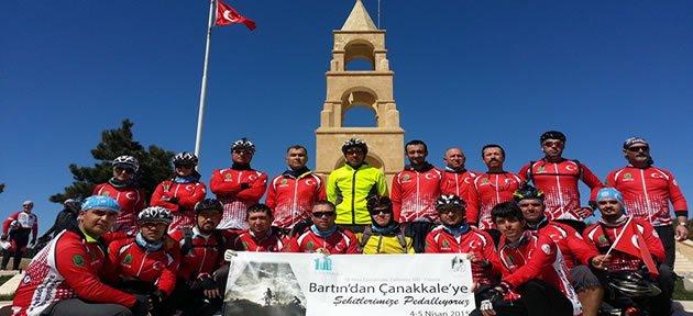 Bartınlı Bisikletliler Çanakkale'de