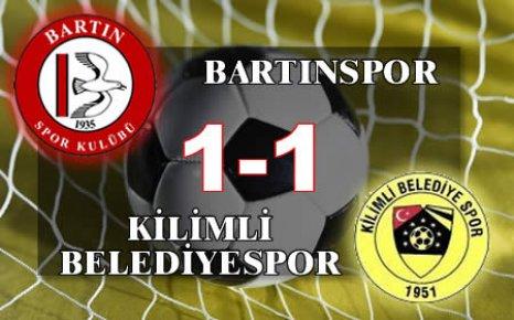 Bartınspor Kilimli'den rövanşı alamadı:1-1