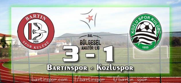 Bartınspor Kozluspor'u 3-1 yendi